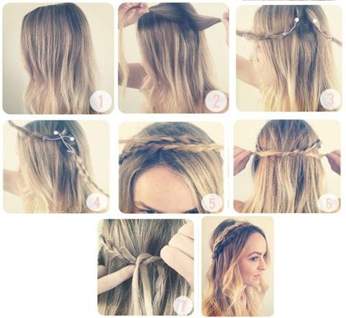 peinados para pelo largo y ondulado paso a paso