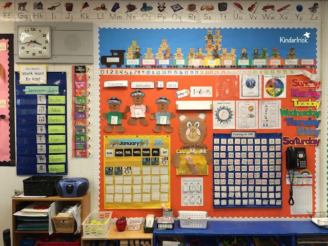 kindergarten classroom calendar wall