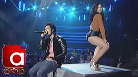 Maja Salvador and Enrique Gil sets the studio on Fire with their production number, twerks it like miley on ASAP 20