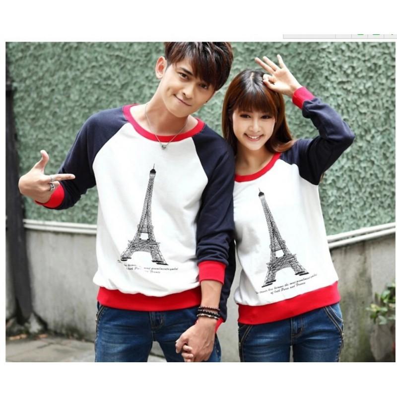 Jual Sweater Paris Couple Online Murah di Jakarta Lengan Panjang Trendy