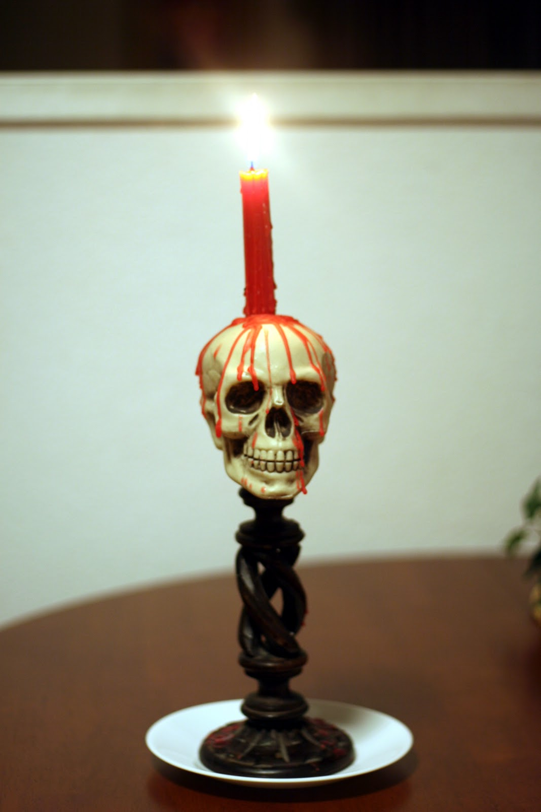 how to make skull candles