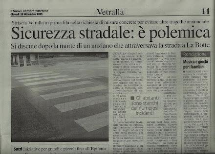 STRISCIA VETRALLA CHIEDE INTERVENTI URGENTI PER LA SEGNALETICA