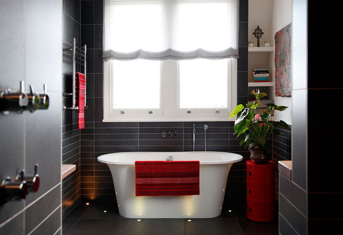 Dark Red Bathroom Accessories Thermae Decor Louise Couples Bathrooms