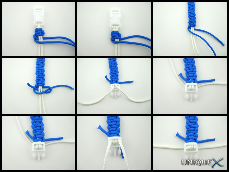 Basket Weave Paracord Bracelet Tutorial : Unique ropecraft how to tie a wave weave bracelet