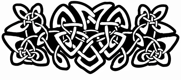 Lower back celtic knots tattoo stencil