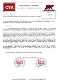Trasladamos al Comité de Empresa una propuesta de modificación del protocolo de comunicación de acc