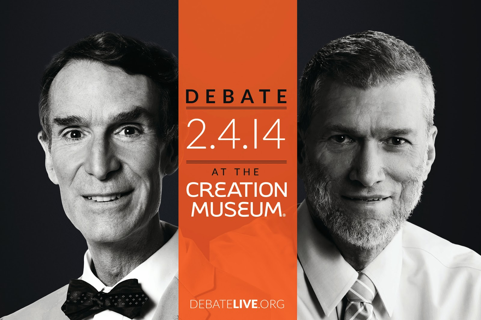 Bill Nye and Ken Ham on Creation Museum Debate postcard