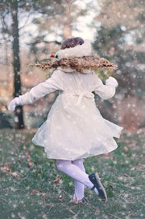 dancing winter girl