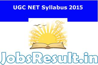 UGC NET Syllabus 2015