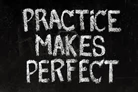 The KEY word is practice. CLICK on image below.