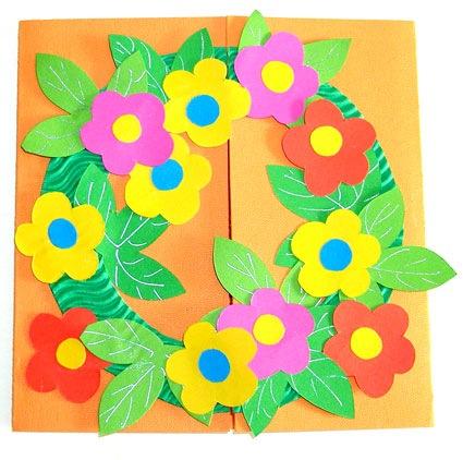 Tarjeta floral para mamá ~ Portal de Manualidades