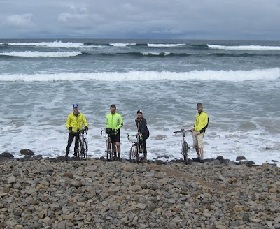 Riders dipping their wheels in the Pacific Ocean, June 2011.  The Saratoga Skier and Hiker, first-hand accounts of adventures in the Adirondacks and beyond, and Gore Mountain ski blog.