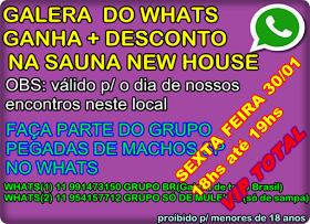 SURUBA ENTRE MACHOS SEXTA FEIRA 30/01 17hs até 23hs sauna new house.