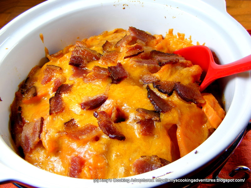 Sweet Potatoes au Gratin (with Bacon)