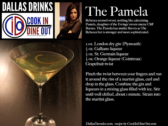 Dallas Drinks: The Pamela - gin, galliano, st. germain, cointreau, grapefruit