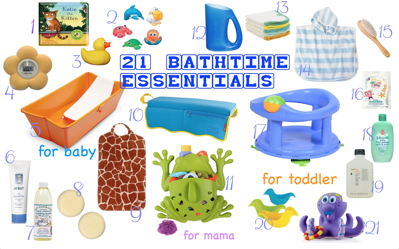 21 Bathtime Essentials for babies and toddlers from £1 | V. I. ...