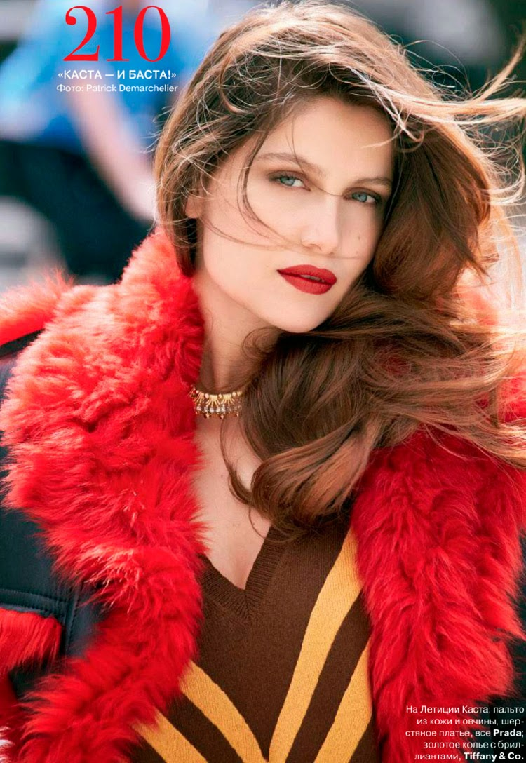 Laetitia Casta for Tatler Russia's October 2014