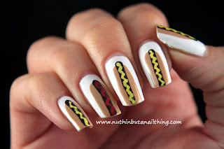 hot dog nail art