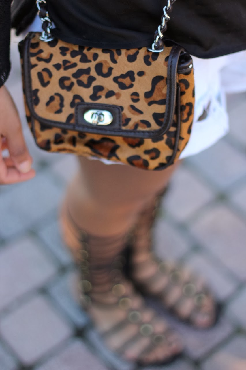 leopard haircalf crossbody mini bag