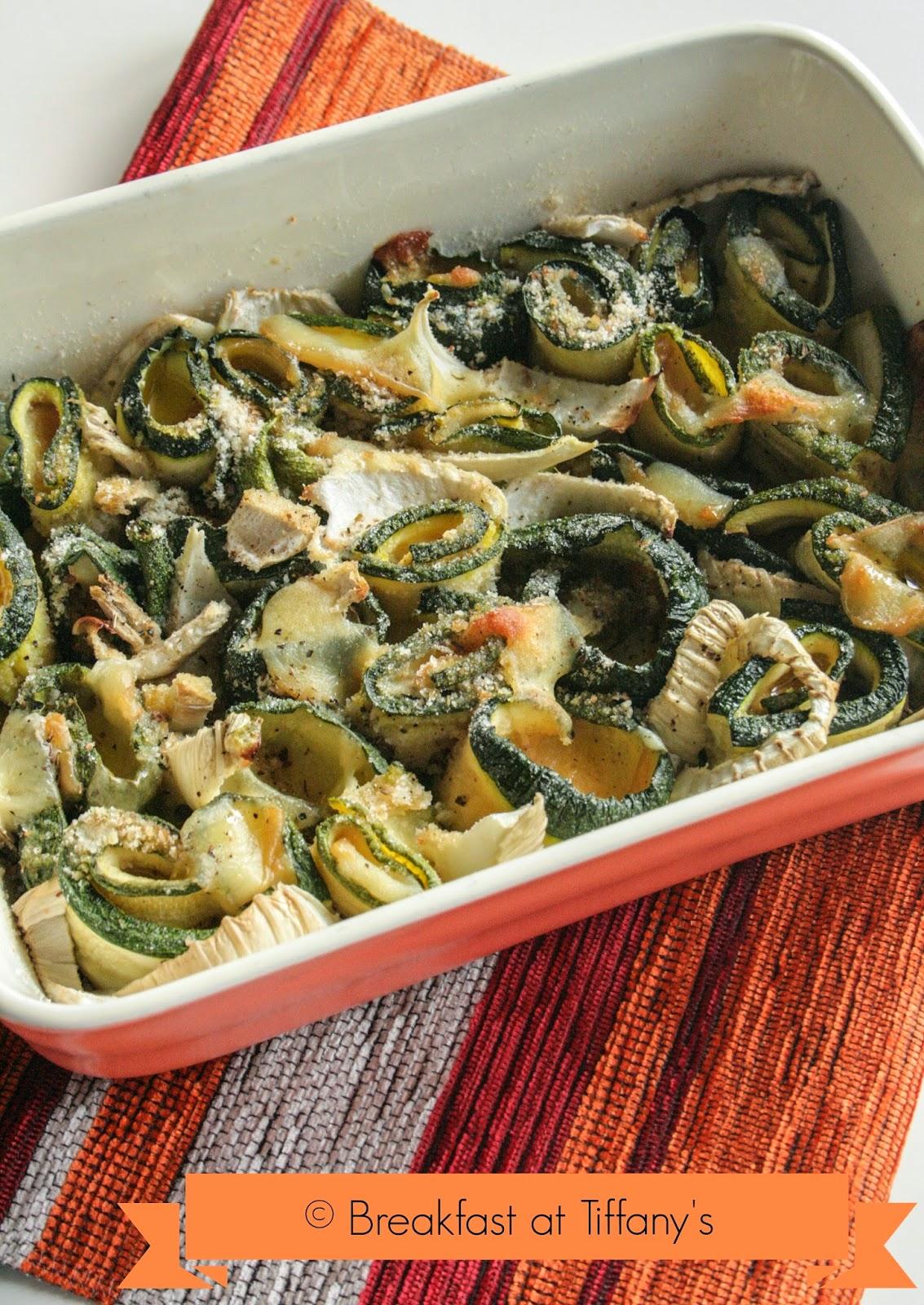 involtini di zucchine con scamorza e finocchio / baked zucchini rolls with scamorza and fennel