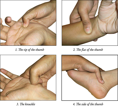 use thumbs in Acupressure