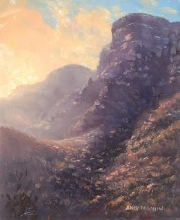 oil painting mountain plein air