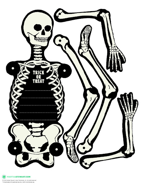Printable halloween skeleton cut out for Skeleton template to cut out