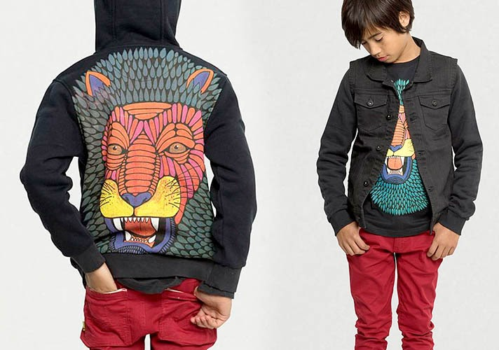 Lion sweatshirt by Munster Kids for Autumn collection 2014