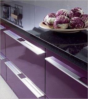 purple cabinets for kitchen
