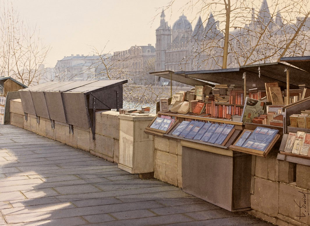 29-Thierry-Duval-Snippets-of Real-Life-in Watercolor-Paintings-www-designstack-co