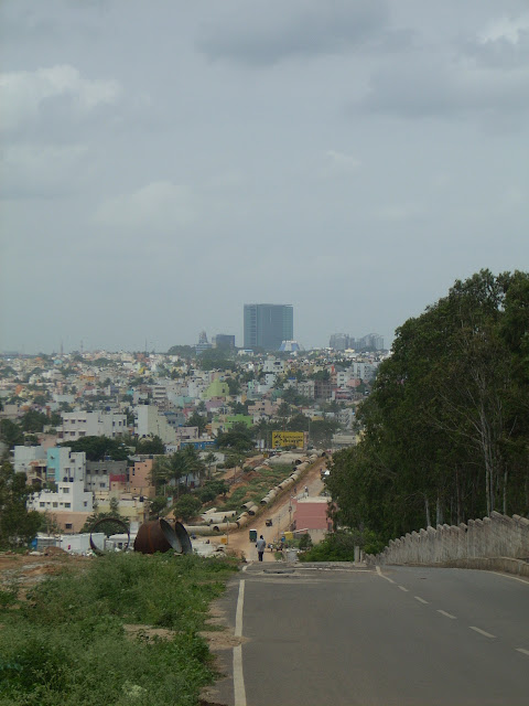 Looking towards Bangalore from T. G. Halli Pipeline Road