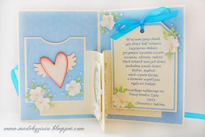 kartki ręcznie robione, kartka harmonijkowa, kartka ślubna, kartka na wesele