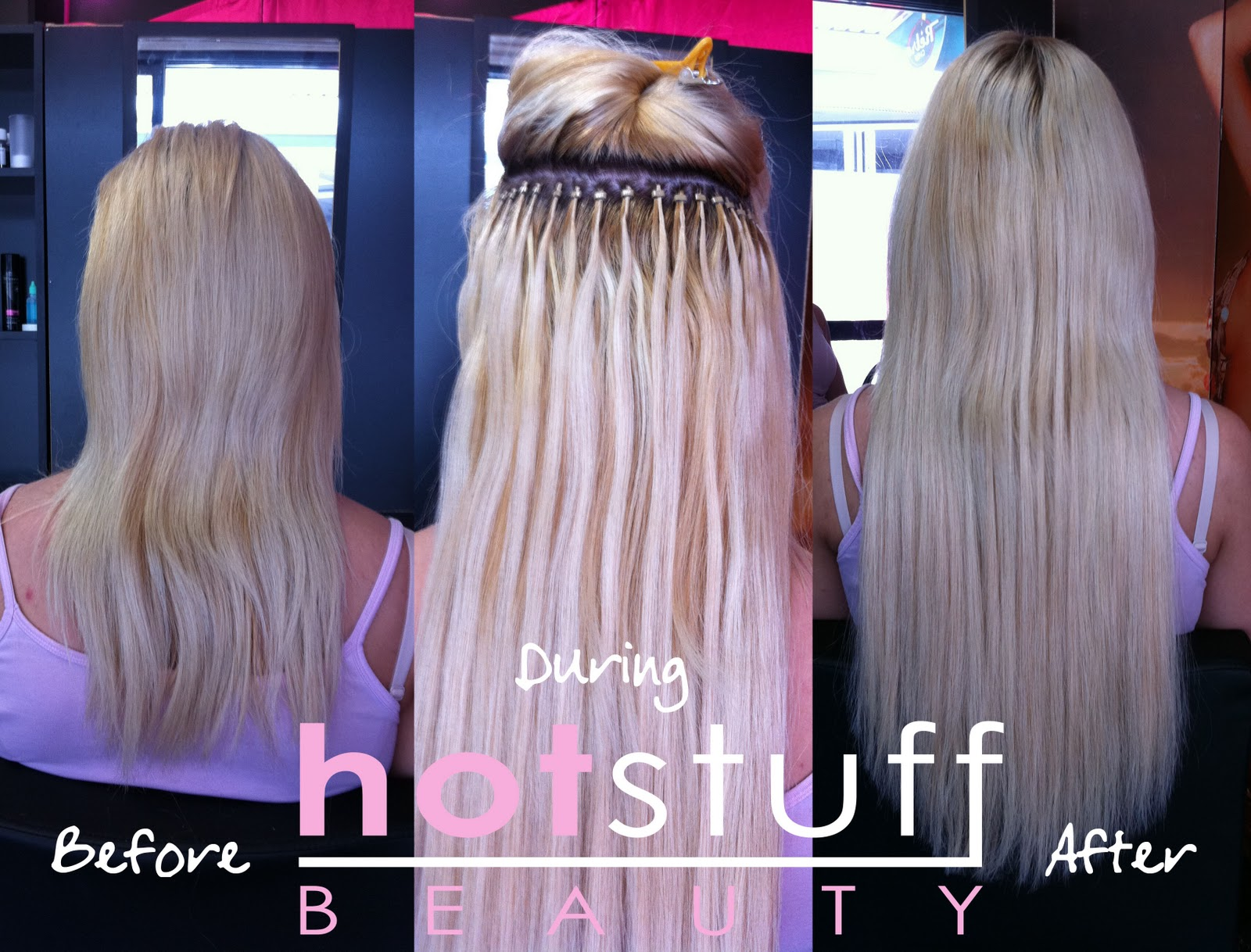 Client During And After Full Head Of Indian Hair 3 RUSSIAN HAIR EXTENSIONS