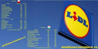 Prețuri LIDL în Ungaria și Polonia (echivalente în lei)