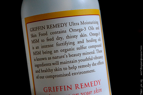 indian blog skincare moisturizer dry skin griffin remedy body lotion omega 3 MSM methylsulfonylmethane MSM reviews ingredients