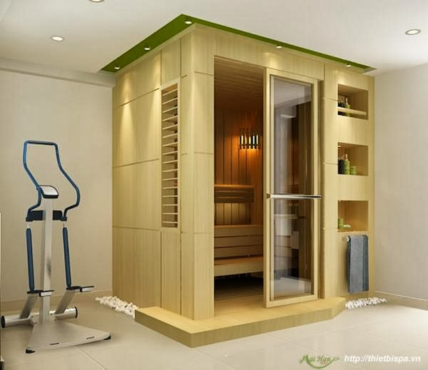 Phòng xông hơi bằng gỗ Châu Âu