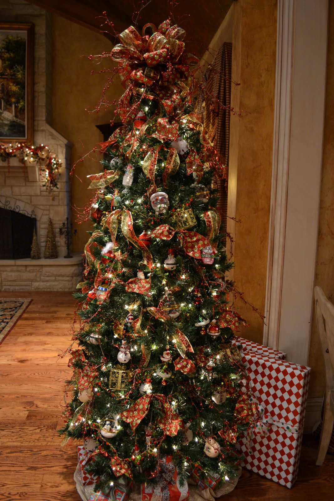 Putting Lights On A Christmas Tree