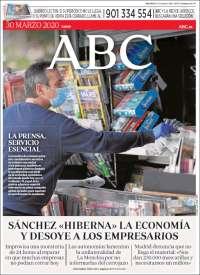 30/03/2020    UNA  PRIMERA PÁGINA DE LA PRENSA ESPAÑOLA
