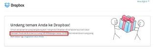 Undang Teman di dropbox, Gratis 500 MB didropbox, referal drobox, free online storage