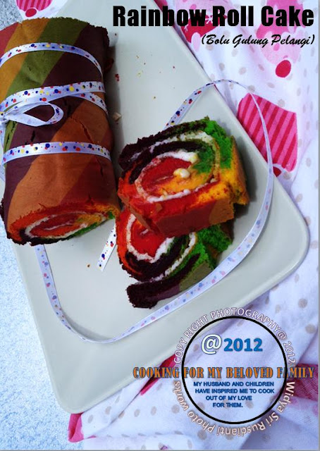 Rainbow Roll Cake Tania Wong