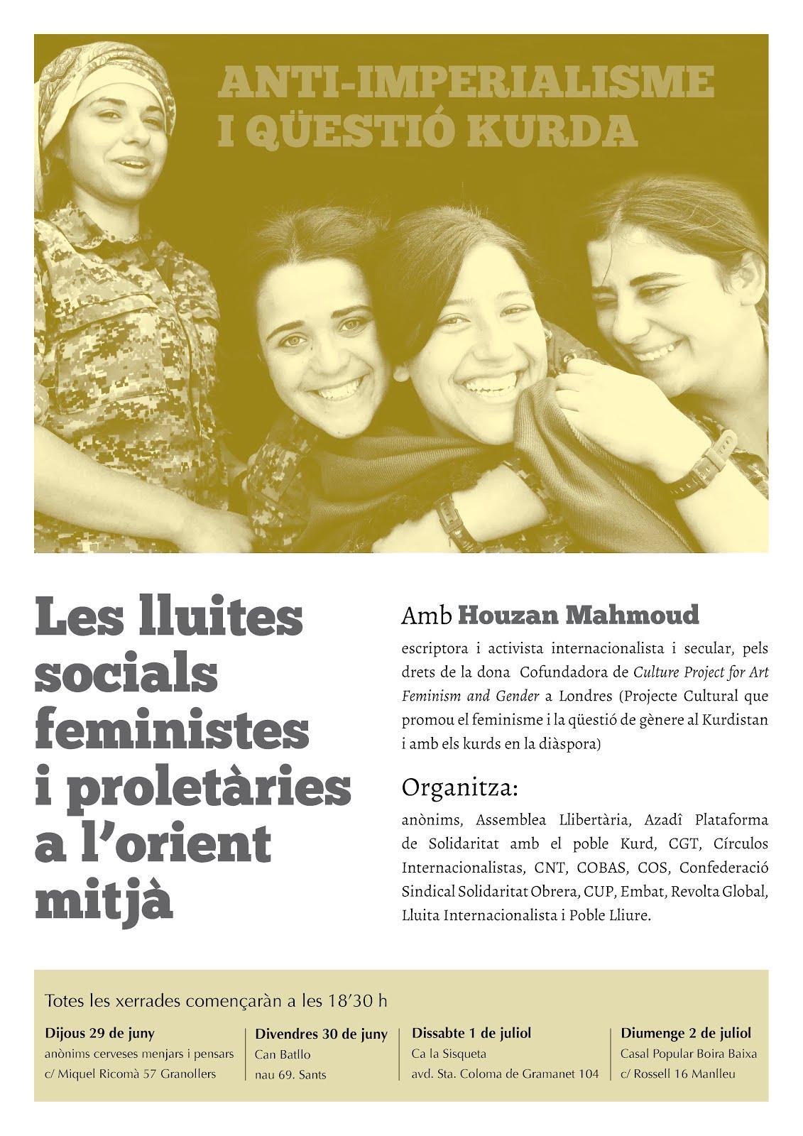 Anti-imperialisme i qüestió Kurda. Les lluites socials feministes i proletàries a l'orient mitjà.