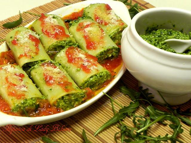 hiperica_lady_boheme_blog_di_cucina_ricette_gustose_facili_veloci_paccheri_ripieni_con_pesto_di_rucola_2