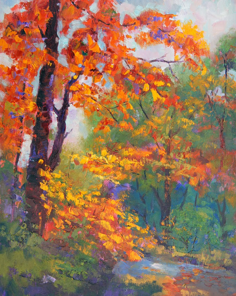 The gallery for autumn birch tree painting for Autumn tree painting