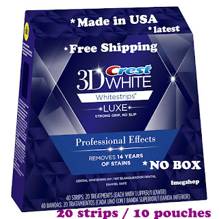20 Strips 10 Pouches Crest 3D White Whitestrips Professional Effects Whitening