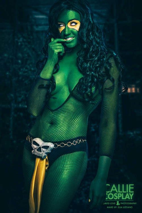 photo de Callie cosplay en gamora sexy