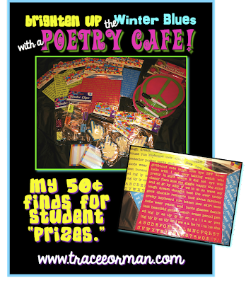 Poetry cafe raffle or door prizes ideas www.traceeorman.com
