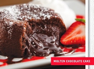 Molten Chocolate Cake, T.G.I Friday's New Menu Review, Food review, T.G.I Friday's, New Menu, American Food