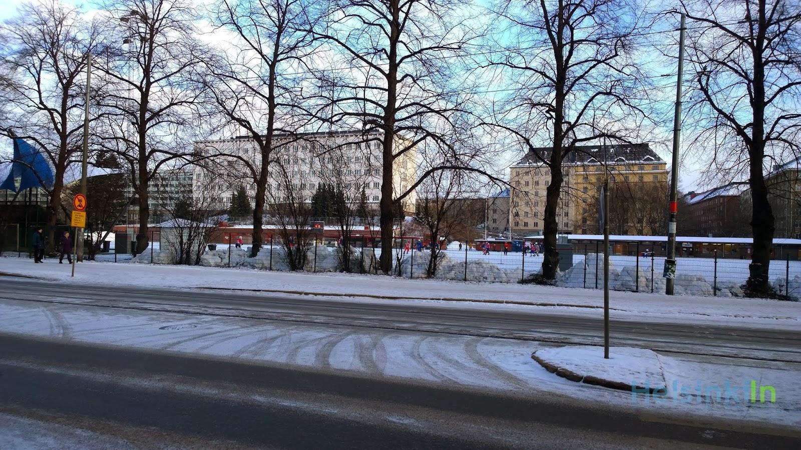 ice rink in Kallio