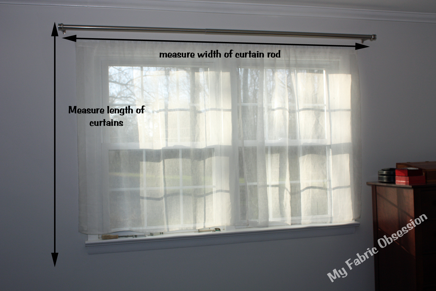 Curtain lengths puddle - Measure From The Rod And Maybe An Inch Above To The Length You Desire Mine Are Only Going A Few Inches Below The Windowsill Because I M Adding Furniture