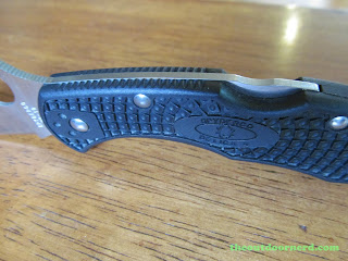 Spyderco Delica 4 FRN Pocket Knife: Closeup Of Handle